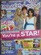 <!--2007-09-19-->Top Of The Pops magazine - High School Musical 2 cover (19