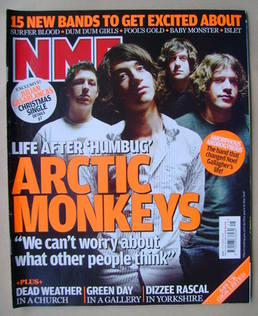 <!--2009-11-07-->NME magazine - Arctic Monkeys cover (7 November 2009)