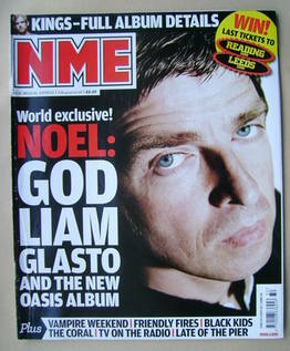 <!--2008-08-09-->NME magazine - Noel Gallagher cover (9 August 2008)