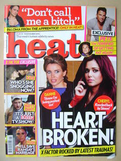 <!--2010-11-13-->Heat magazine - Dannii Minogue and Cheryl Cole cover (13-1
