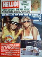 Hello! magazine - Jon Bon Jovi and Samantha Fox cover (3 September 1988 - Issue 16)
