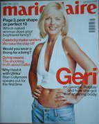 British Marie Claire magazine - May 2001 - Geri Halliwell cover
