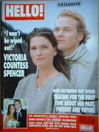 <!--1999-08-17-->Hello! magazine - Victoria Spencer cover (17 August 1999 -