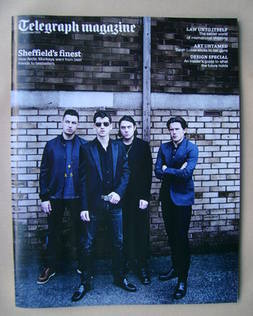 <!--2013-09-07-->Telegraph magazine - Arctic Monkeys cover (7 September 201