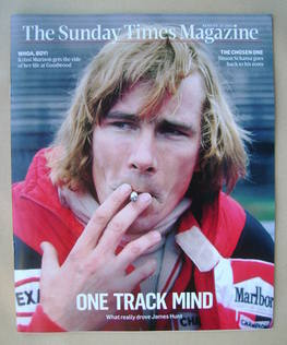 <!--2013-08-25-->The Sunday Times magazine - James Hunt cover (25 August 20