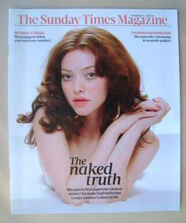 <!--2013-08-11-->The Sunday Times magazine - Amanda Seyfried cover (11 Augu