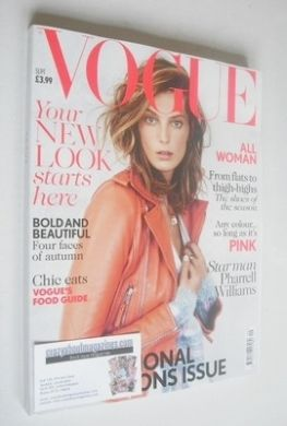 <!--2013-09-->British Vogue magazine - September 2013 - Daria Werbowy cover