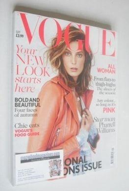 <!--2013-09-->British Vogue magazine - September 2013 - Daria Werbowy cover