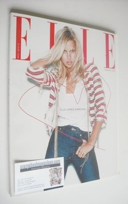 <!--2008-02-->British Elle magazine - February 2008 - Karolina Kurkova cove