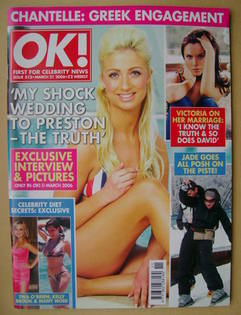 <!--2006-03-21-->OK! magazine - Chantelle Houghton cover (21 March 2006 - I
