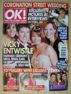<!--2003-01-08-->OK! magazine - 8 January 2003 (Issue 348)