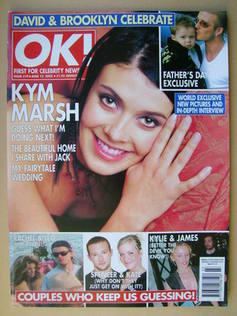 <!--2002-06-12-->OK! magazine - Kym Marsh cover (12 June 2002 - Issue 319)