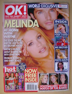 <!--2002-12-04-->OK! magazine - Melinda Messenger and Wayne Roberts cover (