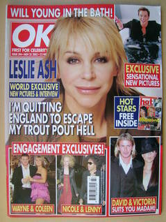 <!--2003-11-25-->OK! magazine - Leslie Ash cover (25 November 2003 - Issue