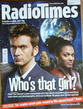 <!--2007-03-31-->Radio Times magazine - David Tennant and Freema Agyeman co