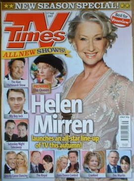 <!--2007-09-01-->TV Times magazine - Helen Mirren cover (1-7 September 2007