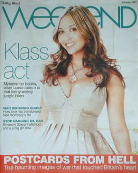 <!--2007-10-06-->Weekend magazine - Myleene Klass cover (6 October 2007)