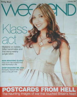 Weekend magazine - Myleene Klass cover (6 October 2007)