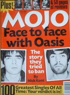 <!--1997-12-->MOJO magazine - Oasis cover (December 1997 - Issue 49)
