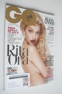 <!--2013-08-->British GQ magazine - August 2013 - Rita Ora cover