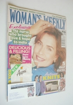 <!--1992-09-23-->Woman's Weekly magazine (22 September 1992)