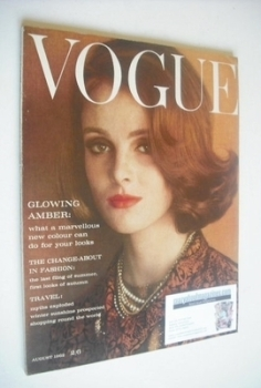British Vogue magazine - August 1962 (Grace Coddington cover)