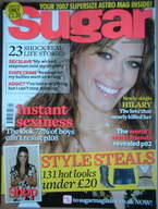 Sugar magazine - Hilary Duff cover (February 2007)