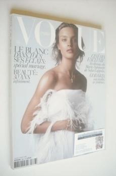 French Paris Vogue magazine - April 2006 - Natalia Vodianova cover