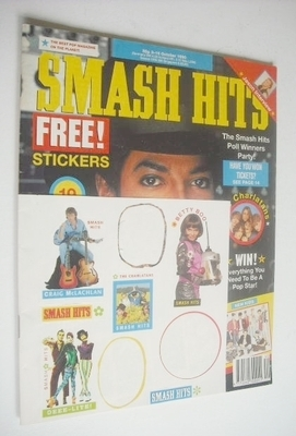 <!--1990-10-03-->Smash Hits magazine - Michael Jackson cover (3-16 October