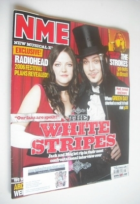 <!--2005-11-12-->NME magazine - The White Stripes cover (12 November 2005)