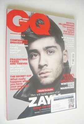 <!--2013-09-->British GQ magazine - September 2013 - Zayn Malik cover