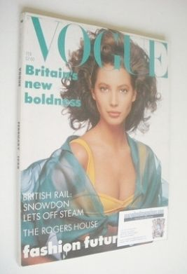 <!--1988-02-->British Vogue magazine - February 1988 - Christy Turlington c