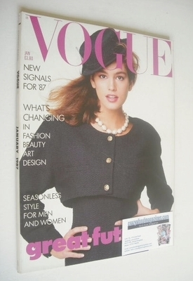 <!--1987-01-->British Vogue magazine - January 1987 - Cindy Crawford cover