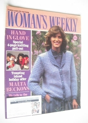 <!--1983-01-22-->Woman's Weekly magazine (22 January 1983 - British Edition