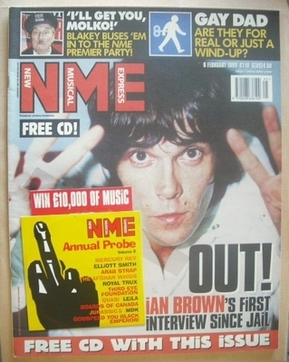 <!--1999-02-06-->NME magazine - Ian Brown cover (6 February 1999)