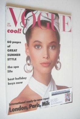 <!--1986-07-->British Vogue magazine - July 1986 - Christy Turlington cover
