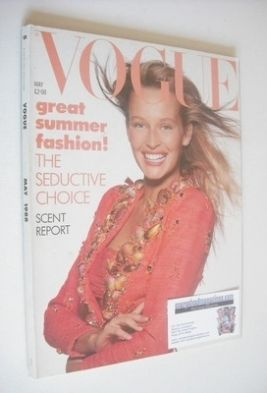 <!--1988-05-->British Vogue magazine - May 1988 - Estelle Lefebure cover