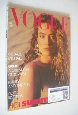 <!--1988-06-->British Vogue magazine - June 1988 - Tatjana Patitz cover
