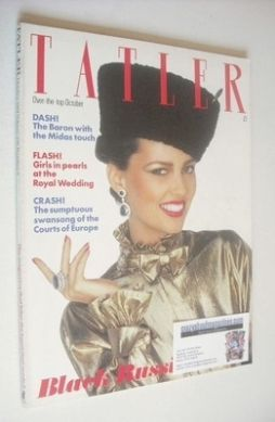 <!--1981-10-->Tatler magazine - October 1981 - Marcie Hunt cover