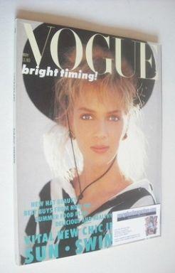 <!--1986-05-->British Vogue magazine - May 1986 - Uma Thurman cover