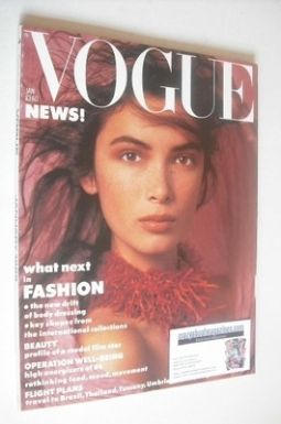 <!--1986-01-->British Vogue magazine - January 1986