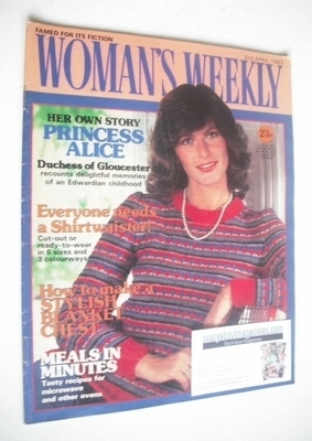 <!--1983-04-02-->Woman's Weekly magazine (2 April 1983 - British Edition)