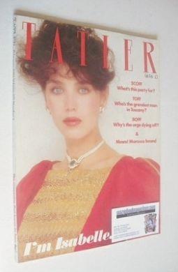 <!--1982-02-->Tatler magazine - February 1982 - Isabele Adjani cover