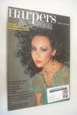 <!--1977-04-->British Harpers & Queen magazine - April 1977 - Marie Helvin