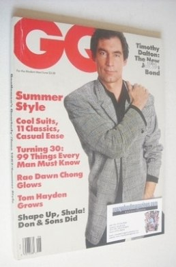 <!--1987-06-->US GQ magazine - June 1987 - Timothy Dalton cover