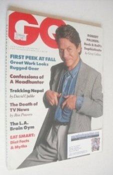 US GQ magazine - July 1988 - Robert Palmer cover
