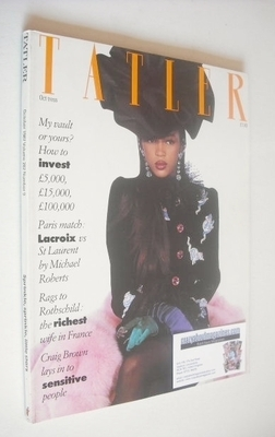<!--1987-10-->Tatler magazine - October 1987 - Naomi Campbell cover