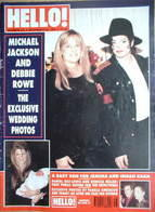 <!--1996-11-30-->Hello! magazine - Michael Jackson and Debbie Rowe wedding cover (30 November 1996 - Issue 435)