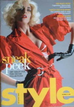 Style magazine - Sneak Peek cover (14 October 2007)