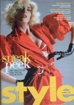 <!--2007-10-14-->Style magazine - Sneak Peek cover (14 October 2007)